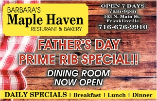 Father's Day Prime Rib Special!!
