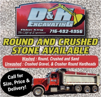 Round And Crushed Stone Available