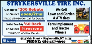We Sell Lawn And Garden & ATV Tires