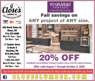 Fall Savings On ANY Project Of ANY Size