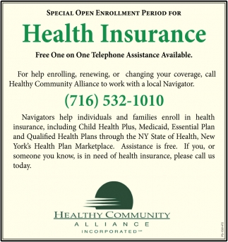 Special Open Enrollment Period For Health Insurance