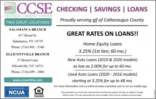 Great Rates On Loans!!